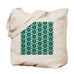 Turquoise Retro Mandala Tote Bag