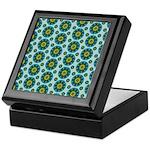 Turquoise Retro Mandala Keepsake Box