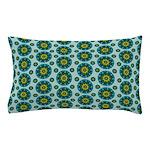 Turquoise Retro Mandala Pillow Case