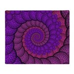 Purple and Pink Fractal Throw Blanket