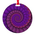 Purple and Pink Fractal Ornament