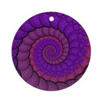 Purple and Pink Fractal Ornament (Round)