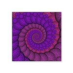 Purple and Pink Fractal Sticker