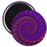 Purple and Pink Fractal Magnet