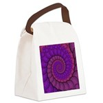 Purple and Pink Fractal Canvas Lunch Bag