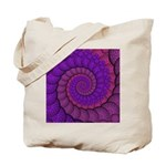Purple and Pink Fractal Tote Bag
