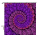 Purple and Pink Fractal Shower Curtain