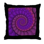 Purple and Pink Fractal Throw Pillow