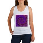 Purple and Pink Fractal Tank Top