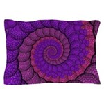 Purple and Pink Fractal Pillow Case