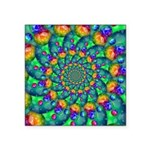 Rainbow Turquoise Fractal Sticker