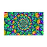 Rainbow Turquoise Fractal Wall Decal