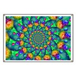 Rainbow Turquoise Fractal Banner