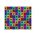 Rainbow Square Cat Pattern Throw Blanket