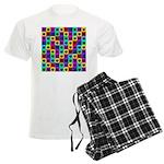 Rainbow Square Cat Pattern Pajamas
