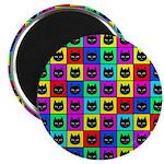 Rainbow Square Cat Pattern 2.25