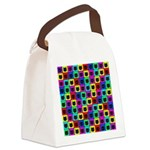 Rainbow Square Cat Pattern Canvas Lunch Bag