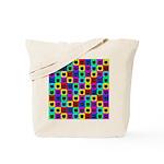 Rainbow Square Cat Pattern Tote Bag