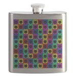 Rainbow Square Cat Pattern Flask