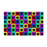 Rainbow Square Cat Pattern Wall Decal