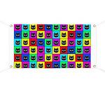 Rainbow Square Cat Pattern Banner