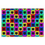 Rainbow Square Cat Pattern Posters