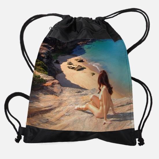 Nude at Washaway Beach, Sydney Drawstring Bag
