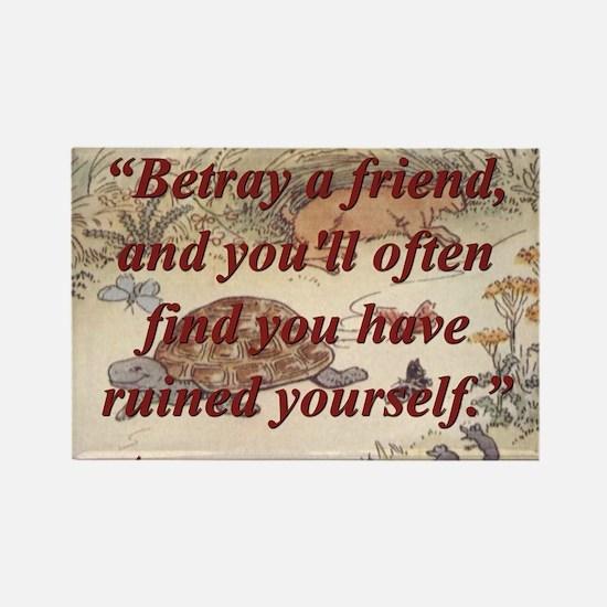 Betray A Friend - Aesop Magnets