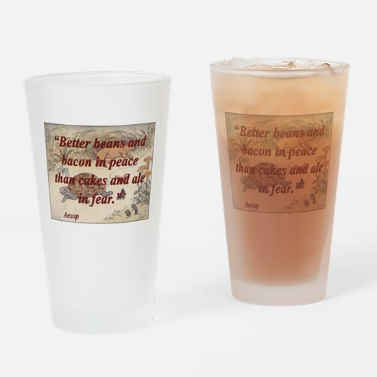 Better Beans And Bacon - Aesop Drinking Glass