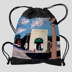 French Market Drawstring Bag