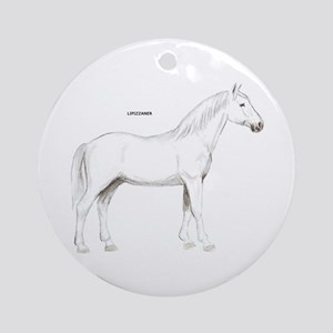 Lipizzaner Horse Ornament (Round)