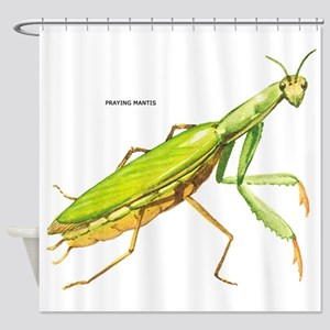 Praying Mantis Insect Shower Curtain