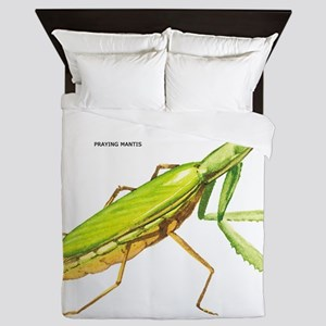 Praying Mantis Insect Queen Duvet