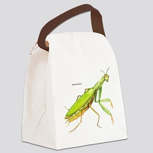 Praying Mantis Insect Canvas Lunch Bag