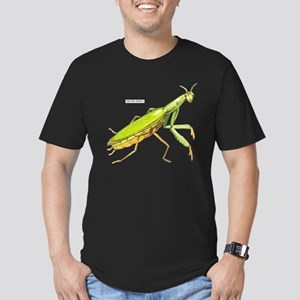 Praying Mantis Insect Men's Fitted T-Shirt (dark)