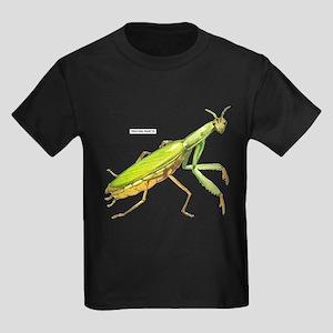 Praying Mantis Insect Kids Dark T-Shirt