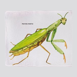 Praying Mantis Insect Throw Blanket