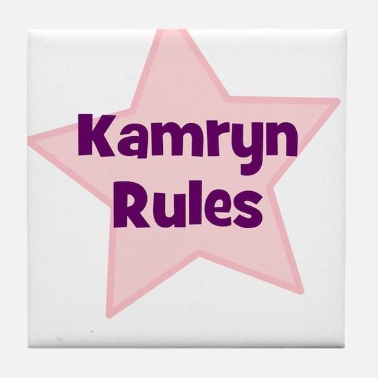 Kamryn Rules Tile Coaster
