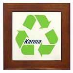 Karma Symbol Framed Tile