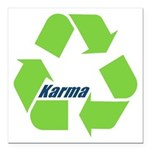 Karma Symbol Square Car Magnet 3