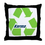 Karma Symbol Throw Pillow