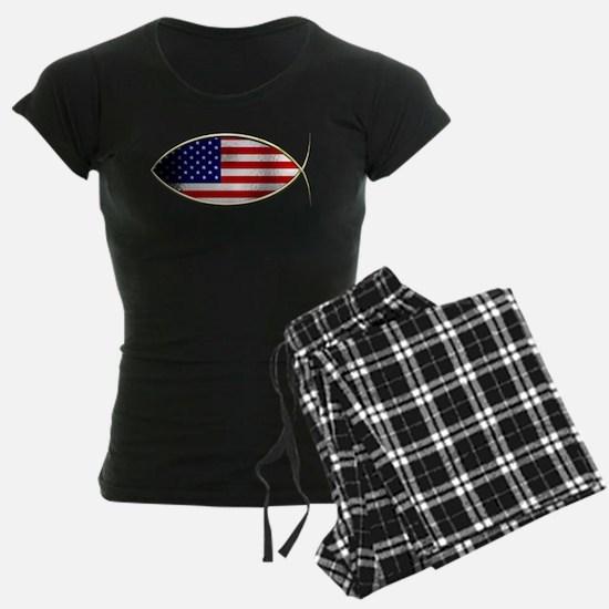 Ichthus - American Flag Pajamas