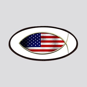 Ichthus - American Flag Patches
