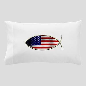 Ichthus - American Flag Pillow Case