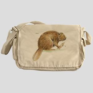 Beaver Animal Messenger Bag