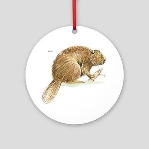 Beaver Animal Ornament (Round)