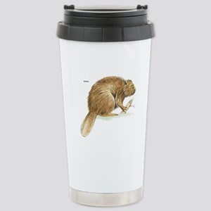 Beaver Animal Stainless Steel Travel Mug