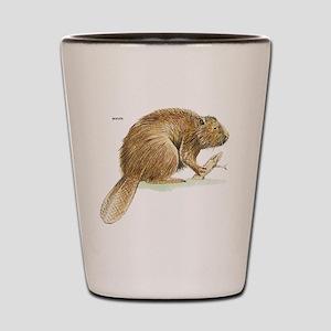 Beaver Animal Shot Glass