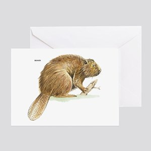 Beaver Animal Greeting Card