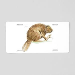 Beaver Animal Aluminum License Plate